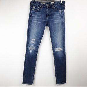 AG - Destroyed Super Skinny Ankle 14YR Jeans